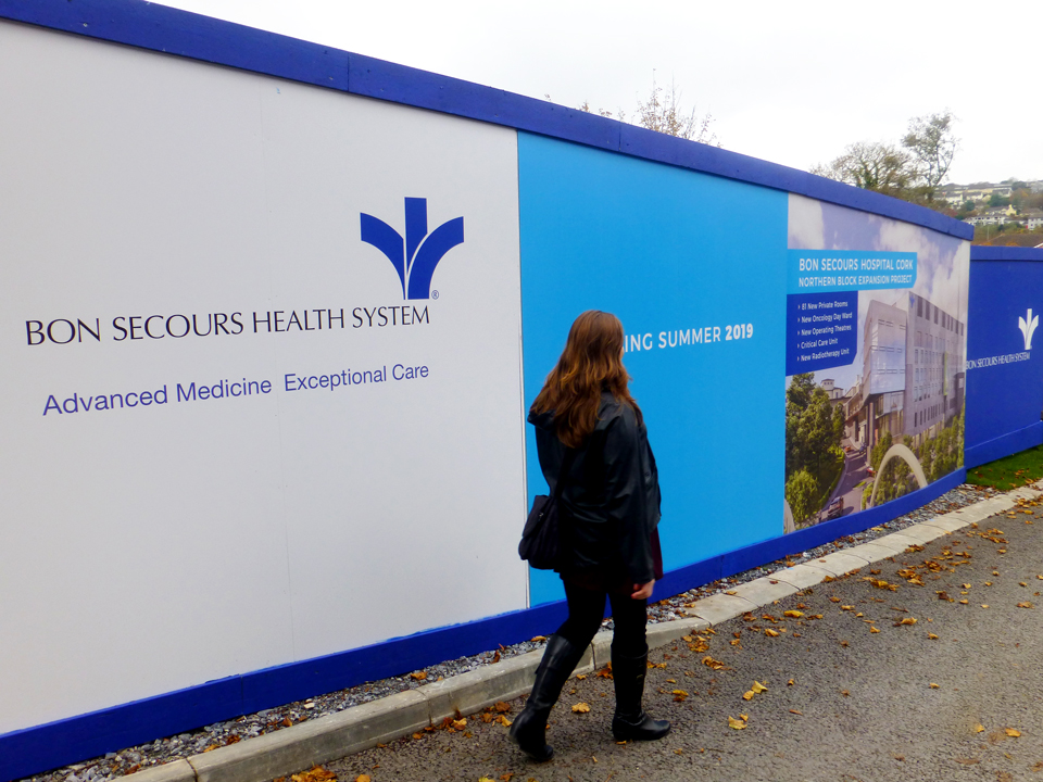 bon secours cork hoarding design