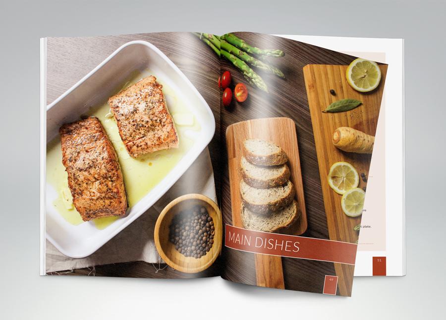 cookbook, graphics design
